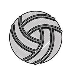 Scribble volley ball cartoon vector