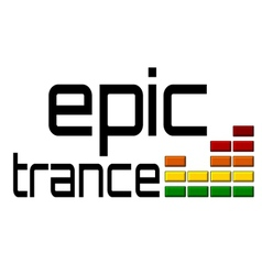 Epic trance dj equalizer music volume on alpha vector