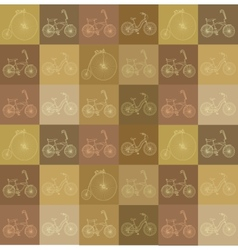 Seamless background with bicycles vector