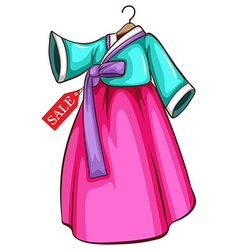A simple dress for sale vector