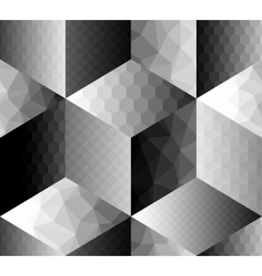 Geometric pattern fron cubes with different vector