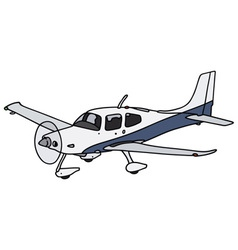 Propeller airplane vector image