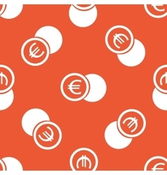 Orange euro coin pattern vector