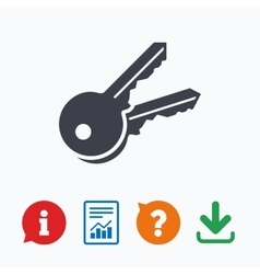 Keys sign icon unlock tool symbol vector