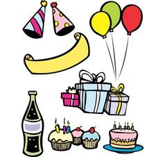 Birthday Party Set vector image