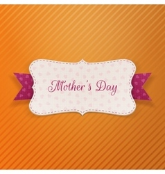 Mothers day paper greeting banner vector