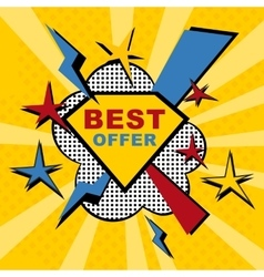 best offer sticker vector image