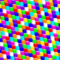 Colorful 3d cube in a seamless pattern vector