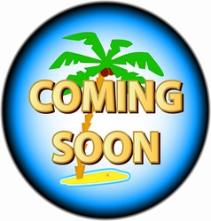 Coming soon logo vector image