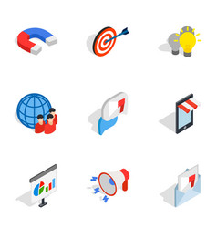 electronic commerce icons isometric 3d style vector image