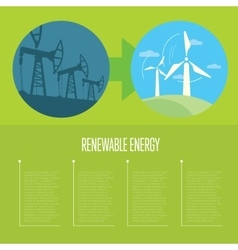 Evolution from industrial pollution to eco energy vector image vector image