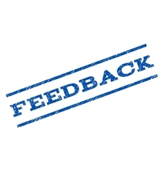 Feedback watermark stamp vector