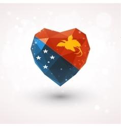 Flag of papua new guinea in shape diamond glass vector