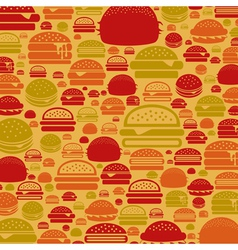Hamburger a background vector image vector image