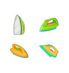 iron icon set cartoon style vector image