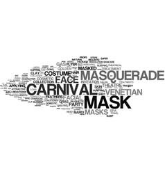 Mask word cloud concept vector