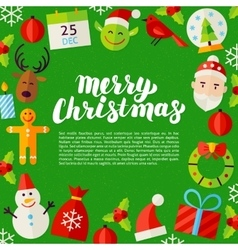 Merry christmas lettering poster vector