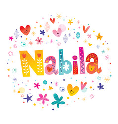 Nabila girls name vector