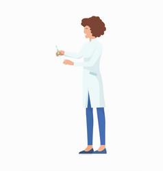 nurse with syringe icon vector image