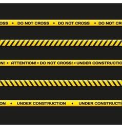 police line Do not cross under vector image