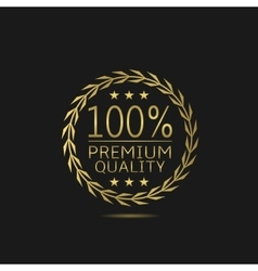 Premium quality badge vector image