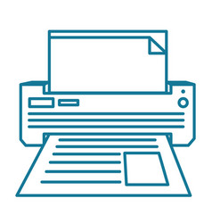 printer linear vector image vector image