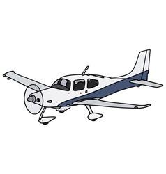 Propeller airplane vector