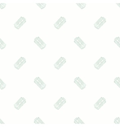 Razor seamless watercolor pattern with stainless vector
