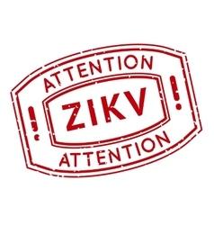 Red and white zika virus stamp vector