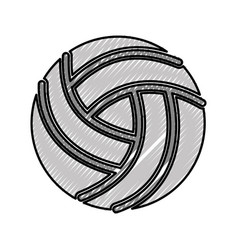 Scribble volley ball cartoon vector