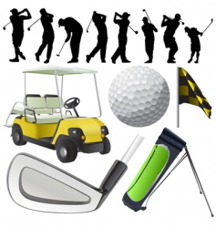 set of golf vector image vector image