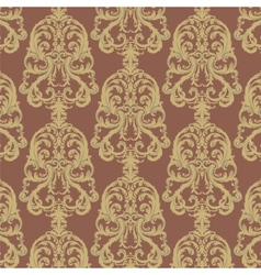 Royal floral damask baroque ornament pattern vector