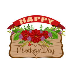 Happy mothers day holiday card vector