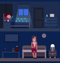 Sleep time infographics flat vector