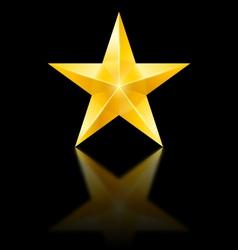 Yellow star on black vector image