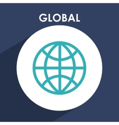 Global icon vector