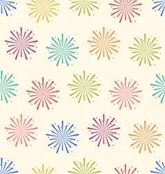 Seamless pattern colorful firework for holiday vector