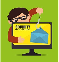 Security digital design vector