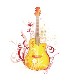funk guitar graphic vector image
