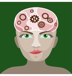 Brain gears in progress vector