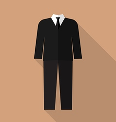 Professional suit flat icon vector
