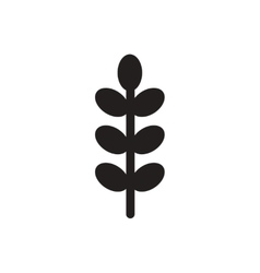 Black icon on white background tree leaf vector