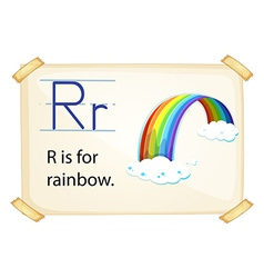 A letter R for rainbow vector image
