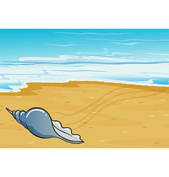 A shell at the seashore vector