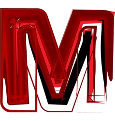 Artistic font letter m vector