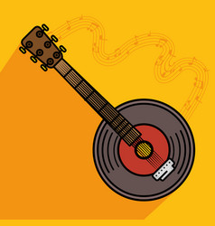 Banjo musical instrument icon vector