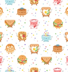 Best breakfast ever seamless pattern vector image vector image