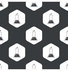Black hexagon conical flask pattern vector