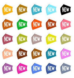Colorful Paper New Labels Set vector image vector image
