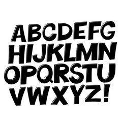 comic black and white alphabet set comic text vector image vector image